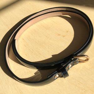 Ann Taylor Skinny Black Leather Belt